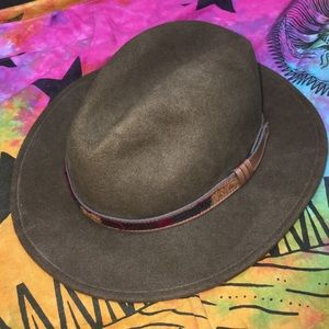 Woolrich Brown Wool Felt Crushable Outback Hat